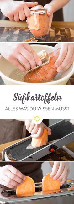 Süßkartoffeln sind wahre Alleskönner: Sie sind nahrhaft, vielseitig zu verarbeiten und einfach lecker. Hier gibt's alle Infos rund um die knallige Knolle.