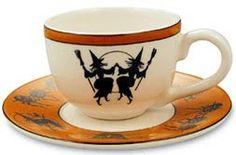 Kitchen Witchery: Dancing teacup, for the Samhain Halloween, Halloween House, Fall Halloween, Happy Halloween, Spooky Decor, Halloween Decorations, Pagan Decor, Café Chocolate, Kitchen Witchery
