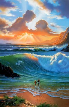 love the wave, without the dolphins and the clouds.