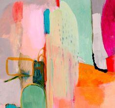 Abstract painting print ABSTRACT large Pink by SarinaDiakosArt