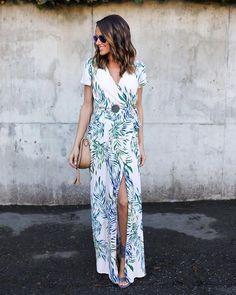 Mahalo Wrap Maxi Dress