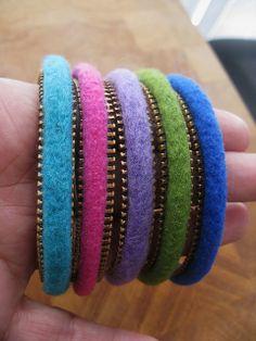 Zipper and felt bracets... by woolly  fabulous, via Flickr