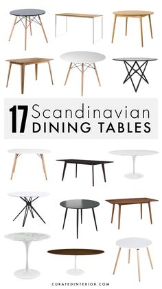 Looking for Scandinavian dining tables? They are often made of 100% wood and finished in a light beige color, but there are a few varieties in other neutral colors like black, dark brown, and white. You can find expandable Scandi dining tables, round dining tables, and the traditional rectangular dining tables. Minimalist Dining Room, Minimalist Decor, Round Dining Table, Dining Room Table, Beige Color, Neutral Colors, Black Dark, Dark Brown, Scandinavian Dining Table