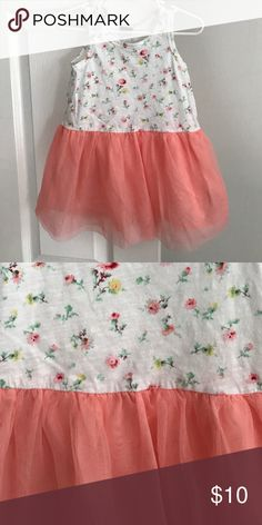 Gap Floral Dress Excellent condition. Floral tank with tulle skirt. Size: 2T. GAP Dresses Casual