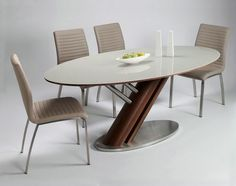 Oval Glass Dining Table Designs