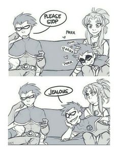 Robin being jealous of Red X