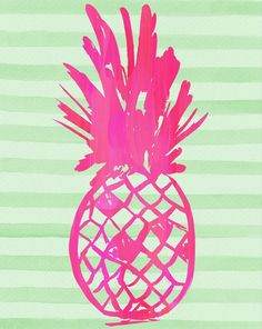 Adding a pop of color with this pineapple graphic in pink and green.