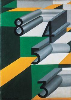 "Giacomo Balla ""Numbers in love"" 1920 Oil on canvas, Museo d'arte moderna e contemporanea di Trento, Rovereto"