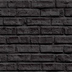 Arthouse VIP Black Brick Wallpaper 623007 - Feature Wall Brick Faux Stone Effect