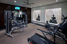 A home gym can be a great convenience. However, coming up with the perfect home gym design to suit personal preferences can be a challenge. The best home gym design increases the chance of achievin… Tanzstudio Design, Home Gym Design, Floor Design, Design Model, Modern Design, Luxury Gym, Luxury Homes, Deco House, Home Gym Flooring