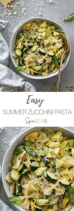 10 Most Misleading Foods That We Imagined Were Being Nutritious! This Easy Summer Zucchini Pasta Is One Of My Go-To's For A Simple Summer Meal, Or A Busy Weeknight It's Filled With So Much Flavor, And Only Requires 7 Ingredients Thinly Sliced Garlic, Good Easy Summer Meals, Summer Recipes, Summer Squash Recipes, Summer Meal Ideas, Summer Vegetarian Recipes, Vegetarian Food, Easy Meals, Cooking Recipes, Healthy Recipes