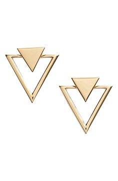 Absolutely loving these modern triangle stud earrings with subtle Southwestern style.