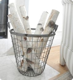 must get some birch tree logs for fall and winter decor.