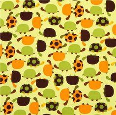 cute green fabric with turtles by Robert Kaufman