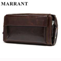MARRANT Hot Sale Men Wallets Genuine Leather Coin Zipper Pocket Men's Long Wallet  Male Clutch Bags Man Purse Small Hand Bag <3 Encontrar más información haciendo clic en la VISITA botón