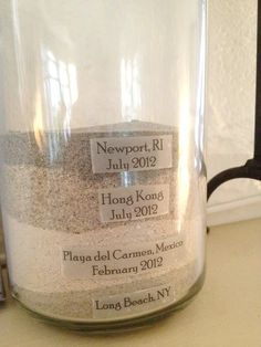 Collect sand from all of your vacations and create a Beach Sand Memory Jar