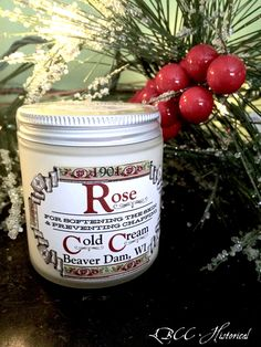 1901  Rose Cold Cream  Victorian Original Recipe  4oz jar  In 1901 natural beauty instead of heavy make-up was all the rage! Healthy and smooth skin