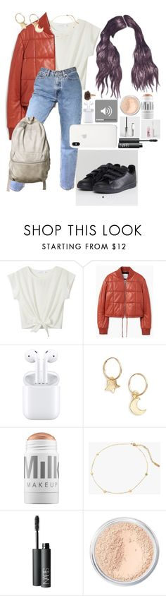 """""""no one can rewrite the stars..."""" by mad-eskind ❤ liked on Polyvore featuring MANGO, Britt Bolton, MILK MAKEUP, Seoul Little, NARS Cosmetics, Bare Escentuals and Apple"""
