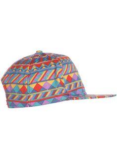 Bright Multi Coloured Snapback Cap