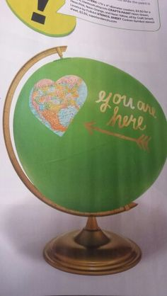 Hgtv magazine painted globe