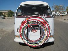 Love this. Hippie VW van and hula hoops. PERFECTION ^^