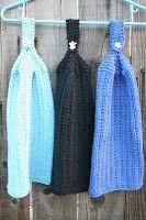 Wishing I was Knitting at the Lake: Columns Hanging towels and dish clothes