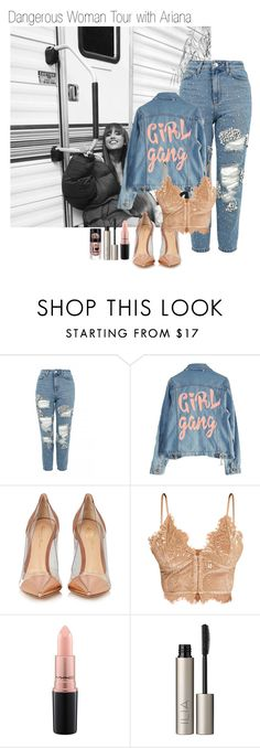 """Dangerous Woman Tour with Ariana"" by narryismybae ❤ liked on Polyvore featuring Topshop, High Heels Suicide, Gianvito Rossi, MAC Cosmetics and Ilia"