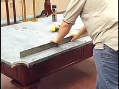 How to install a pool table - slate installation - Home Btamirilliards - YouTube