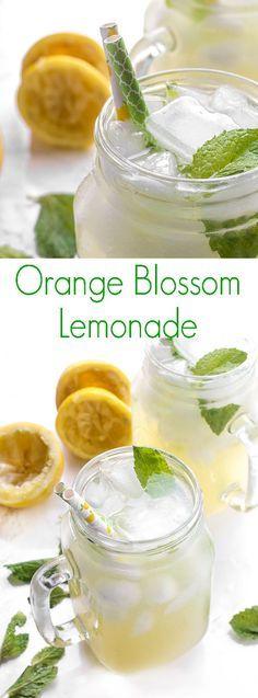 Orange Blossom Lemonade - A refreshing drink for summer, homemade lemonade is flavored with orange blossom water to create the ultimate lemonade recipe.