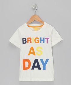 Boys 'Bright As Day' Organic Tee on #zulily! #cutiestyle