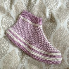 Ravelry: Bosnian-Siberian Slippers pattern by Jessica L Ravelry, Knitting Patterns, Slippers, Socks, Wool, Watch, Image, Fashion, Patterns