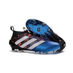 reputable site 1738c bbc7c Adidas Botas de Futbol ACE 16 Purecontrol FG AG Rojo Azul Negro Botines De  Futbol Adidas
