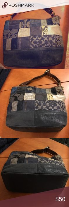 Coach bag Coach patchwork classic bag. Very sturdy and stylish. Only used 2 or three times. ❤️this bag! Coach Bags Shoulder Bags