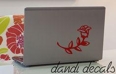 Rose vinyl decal sticker car window decals laptop by dandidecals, $5.00