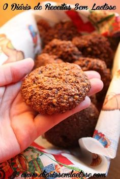 Cookies de Cacau Sem Lactose, Sem Glúten, Sem Soja