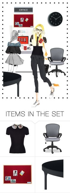"""""""Hot coffee in the office, at 10 am"""" by kikilea ❤ liked on Polyvore featuring art"""