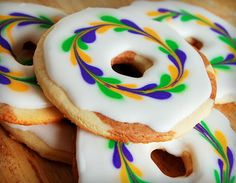 King Cake Sugar Cookies by Sweet Robichaux