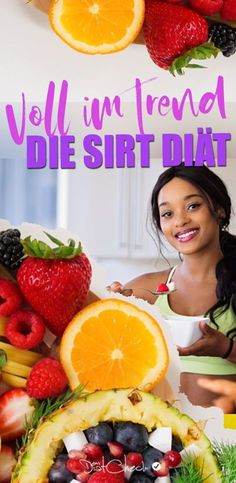 If you like fruit and generally fresh food, the SIRT DIET could be just right. You eat calorie-reduced and still take plenty of vitamins and nutrients. Detox Plan, Workout Videos, Fruit Salad, Diet Recipes, Vitamins, Fresh, Eat, Food, Low Carb