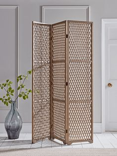 Transform or define any space with our large, versatile three panelled wooden screen. Crafted from natural pine wood our screen has a natural rustic finish and a stylish geometric lattice. Use to create different spaces in your bedroom or dressing room Bedroom Screens, Wooden Screen, Clothes Rail, Boho Room, Furniture Sale, Dressing Room, Home Gifts, Living Spaces, Room Decor