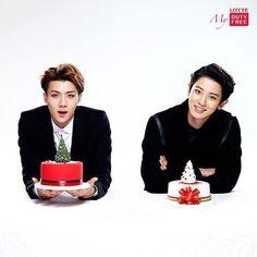 [OFFICIAL] 141223 Lotte Duty Free Instagram Update - Chanyeol & Sehun