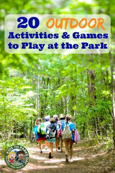 Fun ideas for games to play at the park & printable outdoor activities for kids -- great summer resource!
