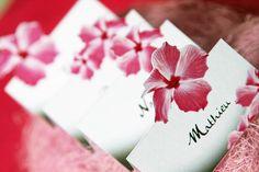 marque place sur le thème exotique fleur d'hibiscus : Autres papeterie par nadege-b
