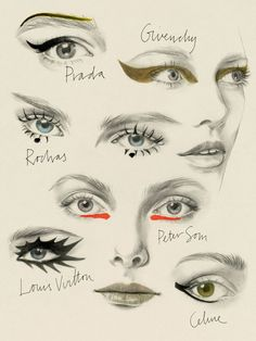 The 6 Makeup Looks for Spring 2015- Illustrated by Cecilia Carlstedt