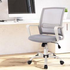 Inbox Zero Home Office Mesh Ergonomic Task Chair & Reviews | Wayfair Best Office Chair, Best Desk, Office Chairs, Small Bean Bag Chairs, Iron Heights, Foot Rest, Innovation Design, Organizers, Home Office
