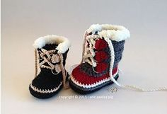Ravelry: Baby Sorel Pacs Style Winter Boots pattern by Paisley