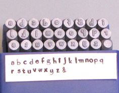 HandPrint lower case font stamps 2.75 Steel letters by Romazone, $42.00