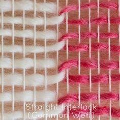 Szövőszék & Orsó - Weaving technikák - Straight Interlock közös Vetülék
