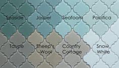 Seaside Arabesque Glass Mosaic Tiles - www.rockypointtile.com