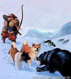 Akitas: Os caçadores de urso!    www.akitainubrasil.com.br