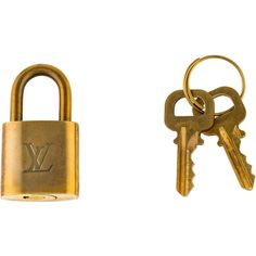 Pre-owned Louis Vuitton Brass Lock & Key Set ($95) ❤ liked on Polyvore featuring accessories, gold and louis vuitton